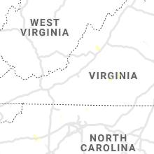 Regional Hail Map for Roanoke, VA - Thursday, July 11, 2019