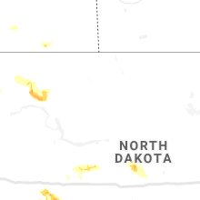 Regional Hail Map for Minot, ND - Friday, July 12, 2019
