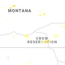 Regional Hail Map for Billings, MT - Saturday, July 13, 2019