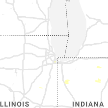Regional Hail Map for Chicago, IL - Saturday, July 13, 2019