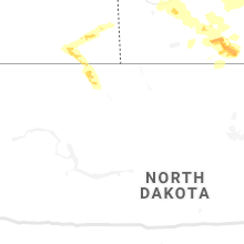 Regional Hail Map for Minot, ND - Saturday, July 13, 2019