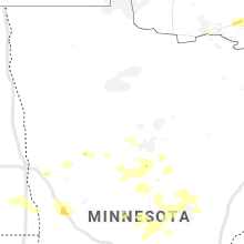 Regional Hail Map for Bemidji, MN - Sunday, July 14, 2019