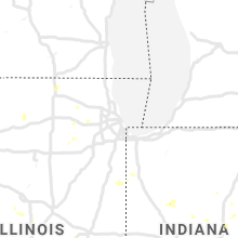 Regional Hail Map for Chicago, IL - Sunday, July 14, 2019