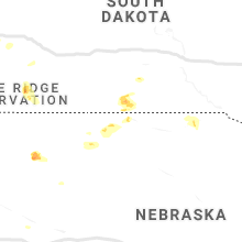 Regional Hail Map for Valentine, NE - Sunday, July 14, 2019
