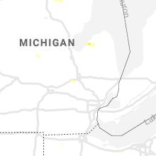 Regional Hail Map for Flint, MI - Monday, July 15, 2019