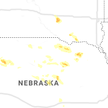Regional Hail Map for Oneill, NE - Monday, July 15, 2019