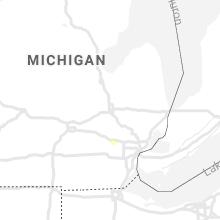 Regional Hail Map for Flint, MI - Tuesday, July 16, 2019