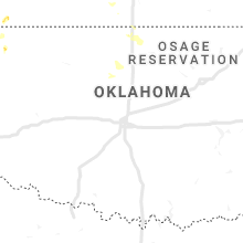 Regional Hail Map for Oklahoma City, OK - Tuesday, July 16, 2019