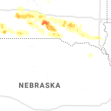 Regional Hail Map for Oneill, NE - Tuesday, July 16, 2019
