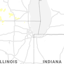 Regional Hail Map for Chicago, IL - Wednesday, July 17, 2019