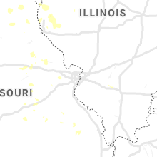 Regional Hail Map for Saint Louis, MO - Wednesday, July 17, 2019