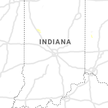 Regional Hail Map for Indianapolis, IN - Thursday, July 18, 2019