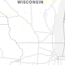 Regional Hail Map for Madison, WI - Thursday, July 18, 2019