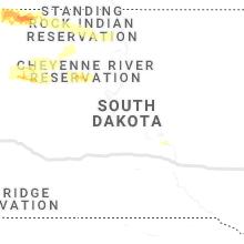 Regional Hail Map for Pierre, SD - Thursday, July 18, 2019
