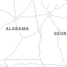 Regional Hail Map for Auburn, AL - Friday, July 19, 2019