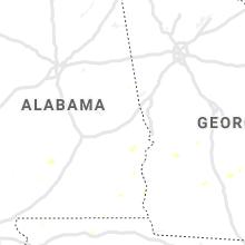 Regional Hail Map for Auburn, AL - Friday, July 19, 2019