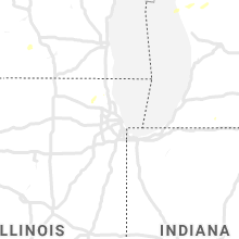 Regional Hail Map for Chicago, IL - Saturday, July 20, 2019