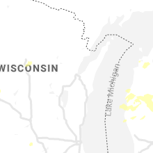 Regional Hail Map for Green Bay, WI - Saturday, July 20, 2019