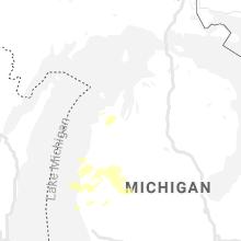 Regional Hail Map for Traverse City, MI - Saturday, July 20, 2019