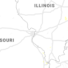 Regional Hail Map for Saint Louis, MO - Sunday, July 21, 2019