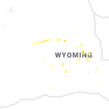 Regional Hail Map for Riverton, WY - Monday, July 22, 2019