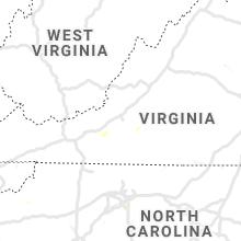 Regional Hail Map for Roanoke, VA - Monday, July 22, 2019