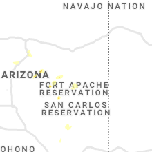 Regional Hail Map for Show Low, AZ - Monday, July 22, 2019