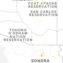 Hail Map for tucson-az 2019-07-22