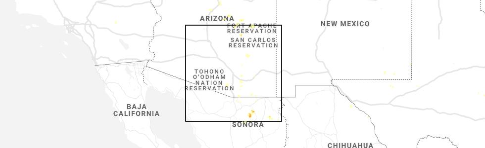 Map Of Southeast Arizona.Interactive Hail Maps Hail Map For Sierra Vista Southeast Az