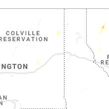Regional Hail Map for Spokane, WA - Tuesday, July 23, 2019