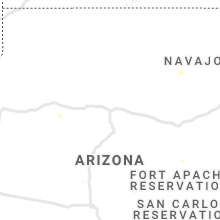 Regional Hail Map for Flagstaff, AZ - Thursday, July 25, 2019