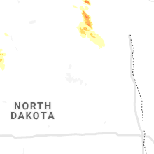 Regional Hail Map for Devils Lake, ND - Wednesday, July 31, 2019