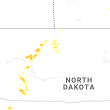 Regional Hail Map for Minot, ND - Wednesday, July 31, 2019