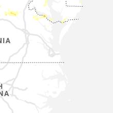 Hail Map for virginia-beach-va 2019-07-31