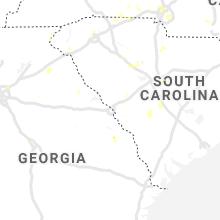 Regional Hail Map for Augusta, GA - Thursday, August 1, 2019