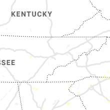 Regional Hail Map for Knoxville, TN - Thursday, August 1, 2019