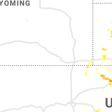 Regional Hail Map for Laramie, WY - Thursday, August 1, 2019