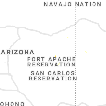 Regional Hail Map for Show Low, AZ - Thursday, August 1, 2019