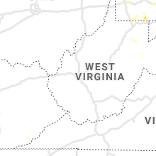 Regional Hail Map for Charleston, WV - Friday, August 2, 2019