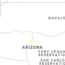 Regional Hail Map for Flagstaff, AZ - Friday, August 2, 2019