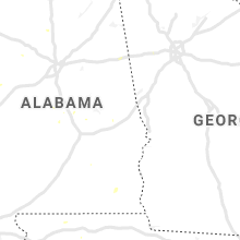 Regional Hail Map for Auburn, AL - Saturday, August 3, 2019