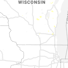Regional Hail Map for Madison, WI - Saturday, August 3, 2019