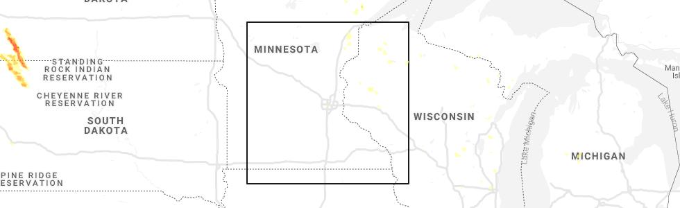 Interactive Hail Maps - Hail Map for Minneapolis, MN
