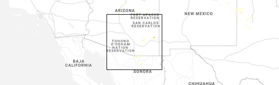 Map Of Elgin Arizona.Hail Map For Tucson Az Saturday August 3 2019