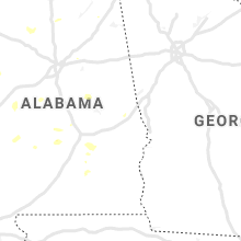 Regional Hail Map for Auburn, AL - Sunday, August 4, 2019