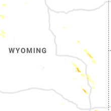 Regional Hail Map for Casper, WY - Monday, August 5, 2019