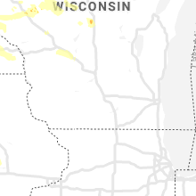 Regional Hail Map for Madison, WI - Monday, August 5, 2019