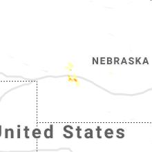 Regional Hail Map for North Platte, NE - Monday, August 5, 2019