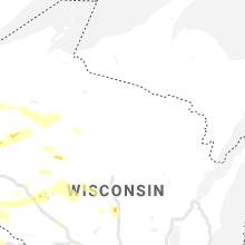 Regional Hail Map for Rhinelander, WI - Monday, August 5, 2019