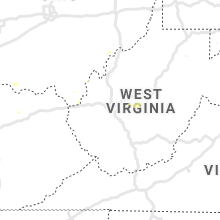 Regional Hail Map for Charleston, WV - Tuesday, August 6, 2019